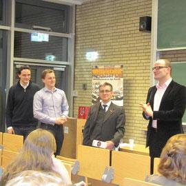 Philip Heißner (JU Eimsbüttel), Matthias Schulz (RCDS Hamburg), Hjalmar Stemmann MdHB (MIT Hamburg), Jens Spahn MdB.