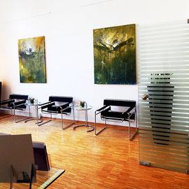 So sehen nun in der Klink für ästhetische Chirurgie  am Pelikanplatz in Hannover die Räume aus. Ich habe sie alle extra gemalt. Wurde mit Dr. med. Entezami alles schön besprochen. Danke von hier aus für die besondere Zusammenarbeit. Hat wirklich Freude ge