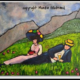 Gemütlichkeit -frei nach Gabriele Münter- 120 x100