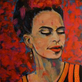 Frida Kahlo II 80 x 80