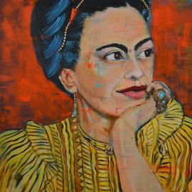 Frida Kahlo II 90 x 90 cm