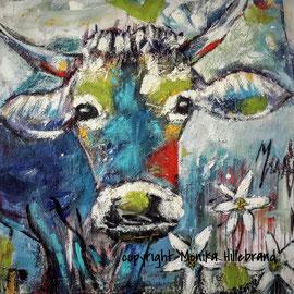 Blaue Kuh 100 x 100