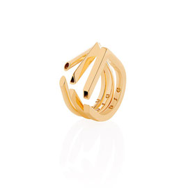 CONTINUUM rings - 18K gold plated brass