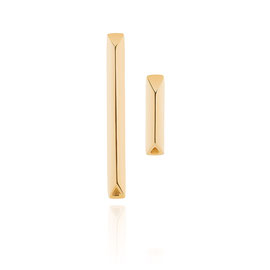 CONTINUUM triangle earrings - 18K gold plated brass