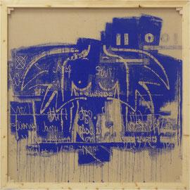 """tOG Nr. C.U.F. 032 - Künstler C.U. FRANK - Werk Titel """"Ein Engel band sich an meine Flügel II"""", 2014, Acryl auf Jute auf Keilrahmen - 150 x 150 x 3,5cm  (c) tOG-Düsseldorf"""