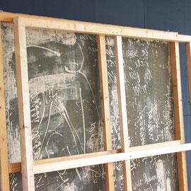 "tOG Nr. C.U.F. 002 - Künstler C.U. FRANK - Werk Titel ""renitenz-rahmen"" - 2000 - Acryl auf Jute mit Keilrahmen - 200 x 200 x 5,5 cm  (c) tOG-Düsseldorf"
