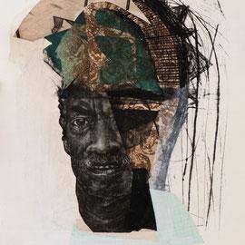 tOG No.10 - Tina Wohlfarth - East 65th - Unikat, Kombinationsdruck-Collage auf Kupferdruckbütten, 32 x 27,5 cm, 2013