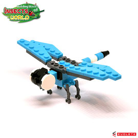 Blocks World Insects World (Dragonfly/トンボ)  K32A-5