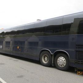 Notre bus pendant tout le parcours.