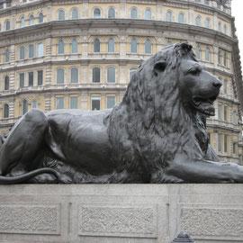 Lion Nelson column Trafalgar