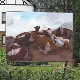 O.T. (Arbeitstitel: Kuhberg), 2010/11, Acryl auf Holz, 260 x 360 cm