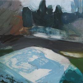 O.T., 2016, Acryl auf Leinwand, 30 x 30 cm