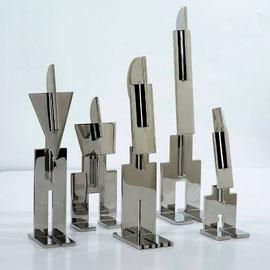 Petits totems - 2012 - Inox 304 - Edition de 8 exemplaires 30 x 25 x 25 cm