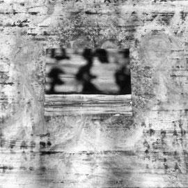 Bildstörung 2015  100cmx 85cm  Acryl, Fotografie auf eloxiertes 2mm Aluminium oder Alu Dibond