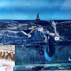 the sealife 2018  115cmx72cm   Collage, Fotografie auf eloxiertes 2mm Aluminium oder Alu Dibond