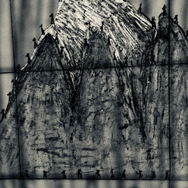 mountain hall 2013  115 cmx85cm  Acryl, Fotografie auf eloxiertes 2mm Aluminium oder Alu Dibond