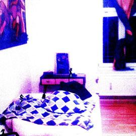 sleeping room 2015 115cmx85cm  Acryl, Fotografie auf eloxiertes 2mAluminium oder Alu Dibond
