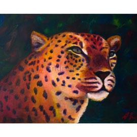 2016-02 Leopard (Acryl auf Leinwand, 70 x 50 cm)