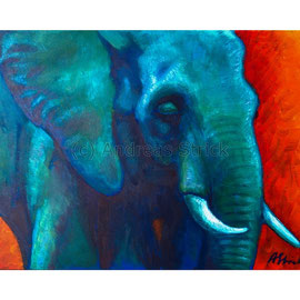 2016-05 Elefant (Acryl auf Leinwand, 70 x 50 cm)