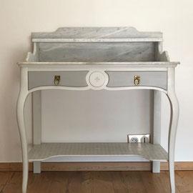 Rénovation Table de toilette plateau marbre La Métamorphose du Temps