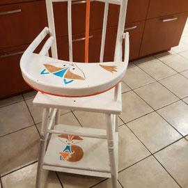 Peindre une chaise bébé La Métamorphose du Temps