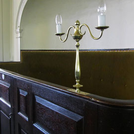 Wardens box pew at the west end