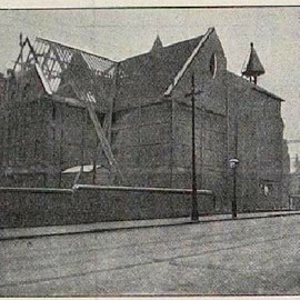 The old church being demolished in 1910