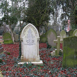 The grave of David Cox, Birmingham watercolourist, died 1859