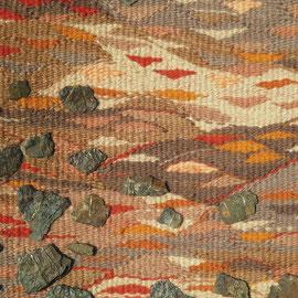 "Detail aus ""Erde: La Tène"" (2011/2012), Freie Gobelinweberei, 34  x 42 cm"