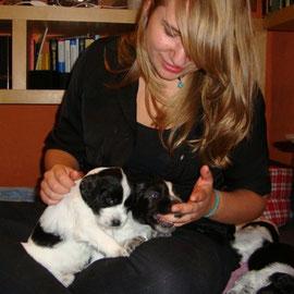 Sarah mit ihren Favoriten Lino und Luke