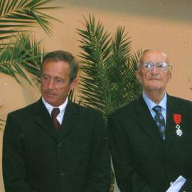 Roger Abjean : remise de la Légion d'honneur - août 2006