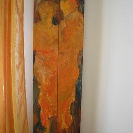 Männlich Weiblich, Diptychon auf Holz