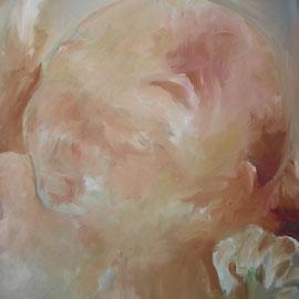 Geburt, Öl auf Leinwand