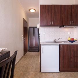 Küche der 2 Bett Studios