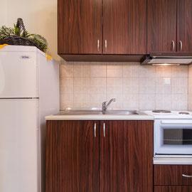 Küche des Appartements
