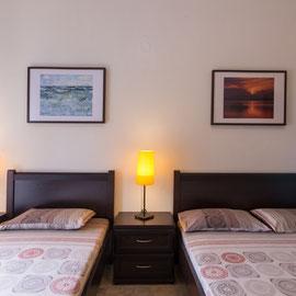 1 Doppelbett und 1 Einzelbett