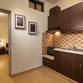 Küche des 3 Bett Appartements