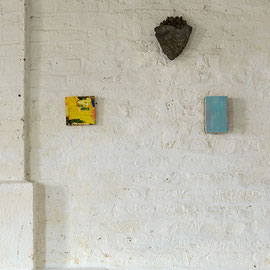 Andreas Keil, zwei meiner Bilder im Atelier von Michael Toenges