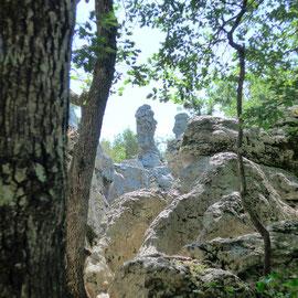 Mystérieux rochers du bois de Païolive