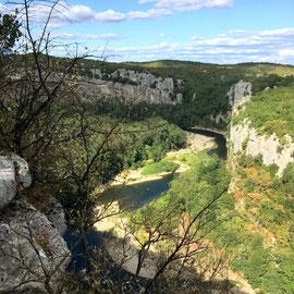 Les gorges du Chassezac en sud Ardèche
