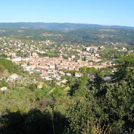 Vue sur Les Vans - Ardèche sud