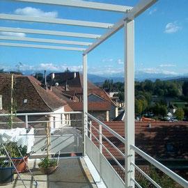 L'aménagement de terrasse pour profiter toute l'année des espaces extérieurs.