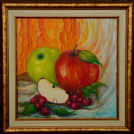 Kirsside ja õunte duett  39#39, lakkitud, 150 eur