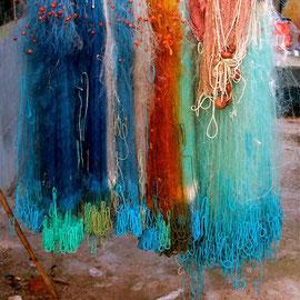 San Feliciano: Fischernetze am Trasimenischen See