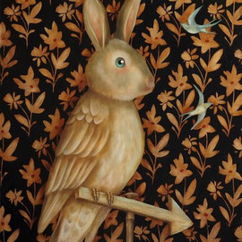 Lapin Perché, 2015, oil on panel, 61 x 50 cm (24 x 19,6 in)