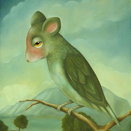 🔴 Souris Vole, 2009, oil on canvas, 55 x 46 cm (21,6 x 18,1 in)