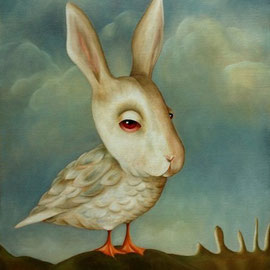 🔴 Lapin d'un Jour, 2009, oil on canvas, 61 x 50 cm (24 x 19,6 in)