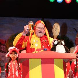 Wolf - Dieter Beye als Till vor der Amtsübergaben an Markus Henz während der Galasitzung 2010/ 2011