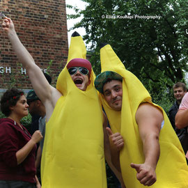 """We go bananas"" at Notting Hill. August 30th 2015"