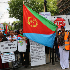 British Eritrean Community demands justice for Eritrea. Downing Street, August 7th 2015